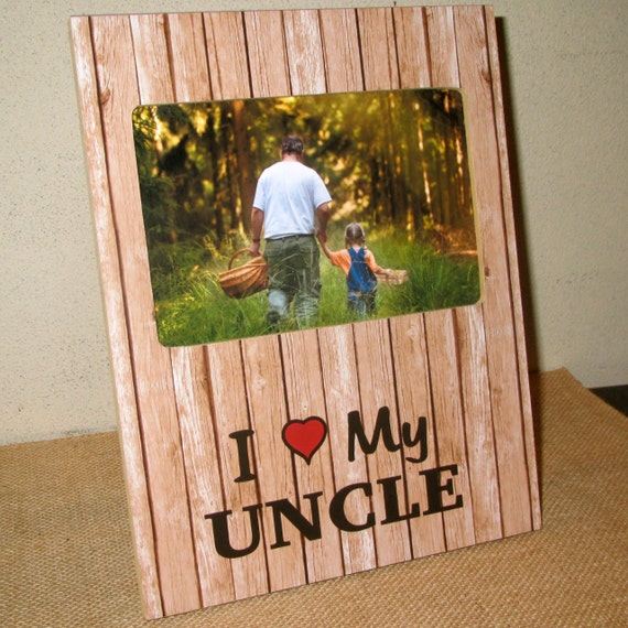 i love my uncle gift sign photo frame picture frame gift for uncle uncle sign gift