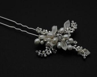 Bridal Hair Pin - Clear Rhinestone Crystal bridal hair Pin