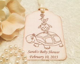 Baby Shower Favor Thank You Tags-Animal Birthday Tags-Set of 12