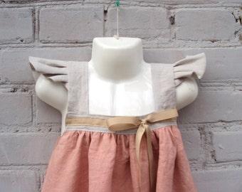 dress Alice nice dress, pink baby dress, organic daby dress