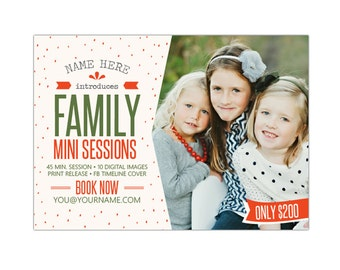 INSTANT DOWNLOAD - Holiday Mini Session template - Photoshop template - E936