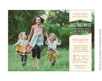 INSTANT DOWNLOAD  - Photography Marketing board - Photoshop Newsletter  template - E705