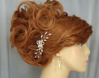 Bridal Hair Comb Accessory, Rhinestone Butterfly Beaded Vine, Bridal Accessory, REX15-316