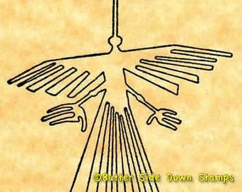 Peru Nazca Lines Condor Rubber Stamp