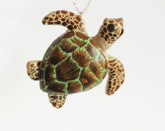 Sea Turtle Necklace - Made To Order
