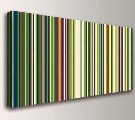 "Modern Art, Mid Century Art, Canvas Print, Stripes - Line Art - Modern Wall Art, Wall Decor - Retro, Home Decor - "" Partition """