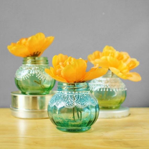 Round Jar Bud Vases