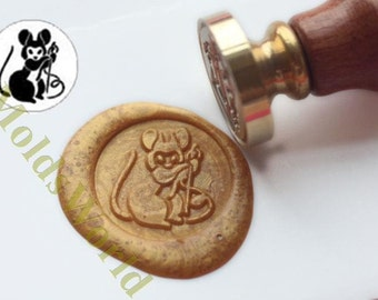 S1279 Mouse Wax Seal Stamp , Sealing wax stamp, wax stamp, sealing stamp