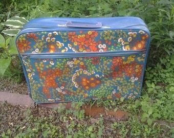 Vintage Floral Suitcase