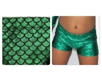Mermaid Print Shorts, Dance wear mermaid Print Shorts, Custom Colors, pageant Dance wear shorts, Dance Wear Pants shorts