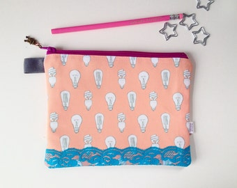 Light Bulbs Divided Pouch Small (handmade philosophy's pattern)
