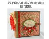 """8""""x8"""" Twelve Days of Christmas Scrapbook Mini-Album PDF Tutorial"""