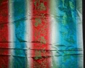 Rare Silk Asian Ombre Panels Vintage Textile