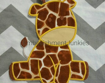 Large giraffe -Iron on embroidered fabric applique patch embellishment-