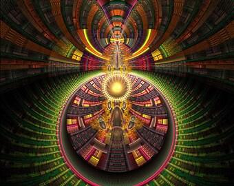 ARCANA - Tapestry, Wall Hanging - Pumayana Visionary Healing Art, Spiritual, Psychedelic, Shamanic, Sacred Geometry, Entheogenic Art