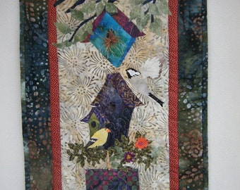 Wonderful Bird House Wall Hanging - Made to Order -  Handmade By Me