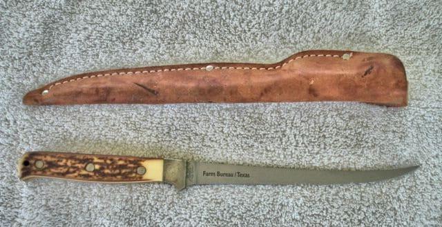 Vintage Schrade Uncle Henry 167 Fillet Fish Knife With