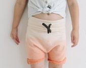 SALE   Bluebeard Short   Sunset Orange   Toddler/ Child Slouch Short