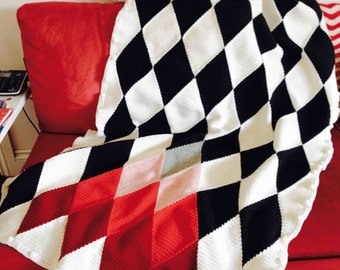 Colour Me Happy Harlequin Blanket / Afghan