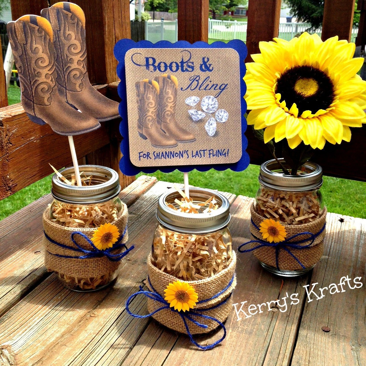 Boots And Bling Centerpiece Bachelorette Party Bridal