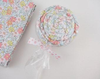 Cottage Chic Baby Girl Gift Flowered Receiving Blanket Lollipop