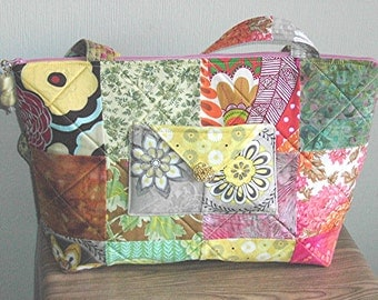 Large, Bright, Summery Charm Squares Purse