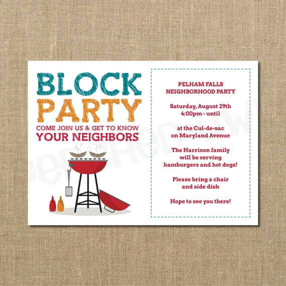 Neighborhood block party flyer template block party template flyer planet flyers neighborhood block party cookout invitation grilling out stopboris Image collections