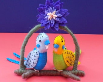 Budgie Birdies Sewing Pattern. Instant Download.