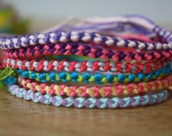 Basic Double Chain Knot Friendship Bracelet