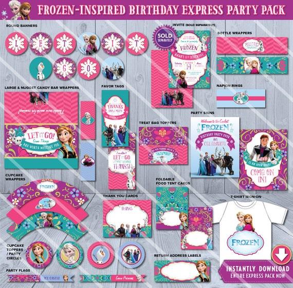 Frozen Party Supplies Frozen Printables Frozen Party Ideas