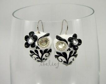OWL earrings handmade from polymer clay