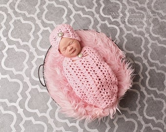 Hat and Cocoon Set- Newborn - 3 Months