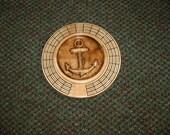Anchor 3 track round cribbage board with storage
