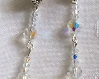 Swarovski Crystal Post Dangle Earrings