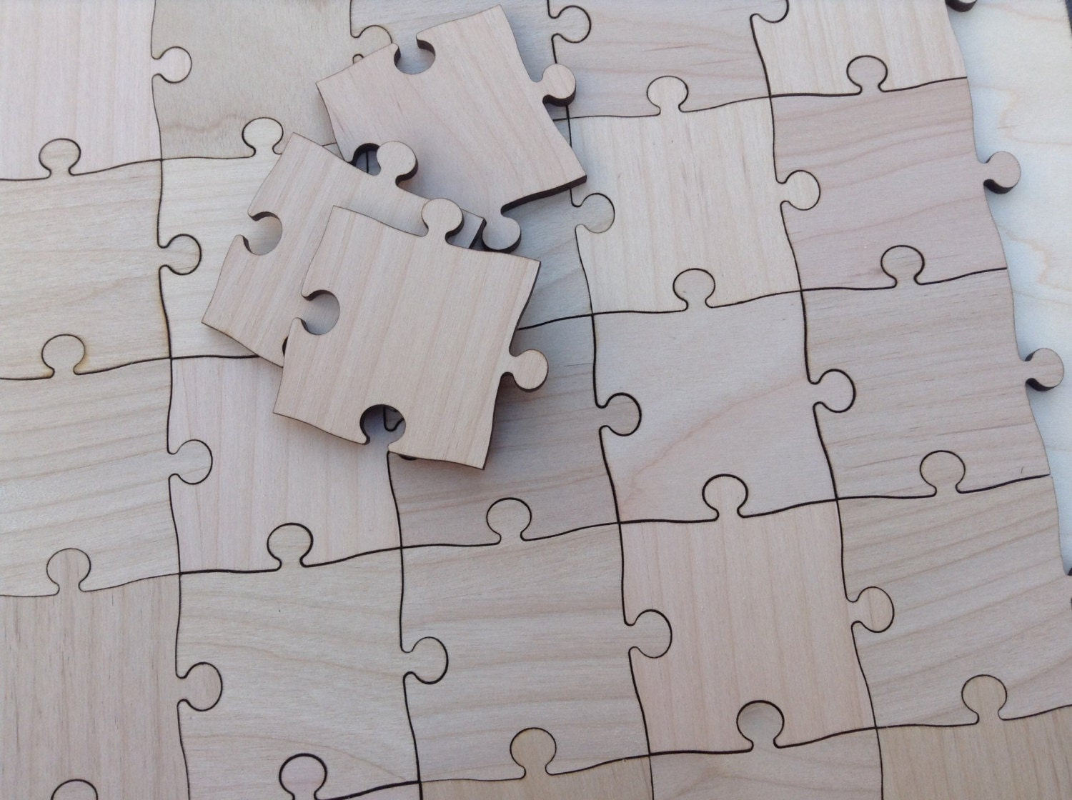 100 large 2 inch blank puzzle pieces wedding guest book for Large blank puzzle pieces template