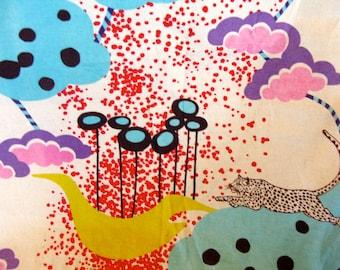 Etsuko Furuya Japanese Import Fabric Kokka Spotted Leopard Design