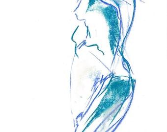 Figurative Pastel Drawing - Giclee Print