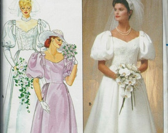 Butterick 4766  Misses Bridal Gown and Bridesmaid Dress, Wedding Dress Pattern, Sizes 10 & 12 UNCUT