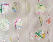 London Street Map Garland 10ft Long - Map Bunting, Mobile, Nursery Decoration, Baby Shower, Bon Voyage Decor, Map Paper Garland