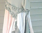 Moss green plus size  lagenlook  mori  girl  tunic  junk  gypsy  boho  tunic  eco friendly  clothing