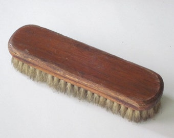 Vintage Wood Shoe Shine Brush