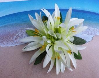 Tropical silk flower hawaiian hair clip (17)