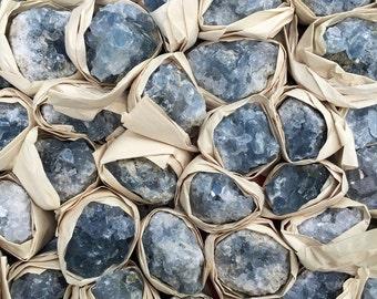"""3 CELESTITE Specimens lot -  1.5"""" + Cluster - Blue crystal - reiki - healing - meditation"""