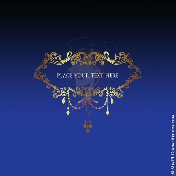 Gold Chandelier Frames Clip Art Ornate Vintage Border