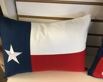 Texas Flag Pillow Large