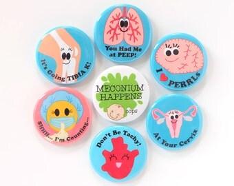 Interchangeable Badge Reels - Medical Humor Badge Clips - Cute Badge Holders - Unique Gifts - Organ Badge Pulls - Nurse Gifts - BadgeBlooms