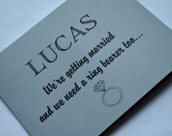 Will you be our ring bearer card PERSONALIZED NAME RING Bearer proposal card bridesmaid card bridal party card cute custom ring bearer card