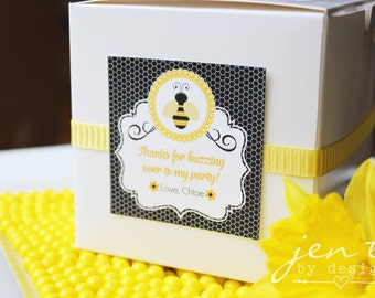 Customized Bumble Bee Favor Tags