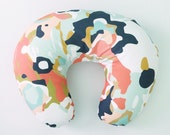 Boppy Cover Coral Jubilee. Boppy. Nursing Pillow. Boppy Pillow Cover. Boppy Slipcover. Minky Boppy Cover. Coral Boppy Cover.