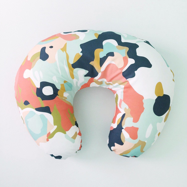 Boppy Cover Coral Jubilee. Boppy. Nursing Pillow. By Iviebaby